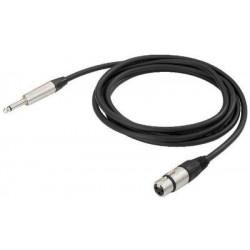 Cablu microfon Jack 6.3 la XLR mama Neutrik MMCN-600/SW