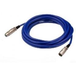 Cablu XLR la XLR Stage Line MEC-100/BL