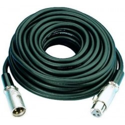 Cablu XLR la XLR Stage Line MEC-20/BL