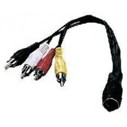 Cablu adaptor 5-pole DIN mama la 4 X RCA tata stereo Stage Line ACA-15/2