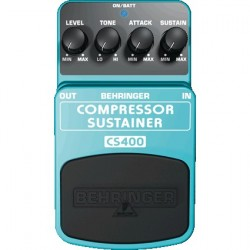 Efect pentru pedala Behringer COMPRESSOR/SUSTAINER CS400