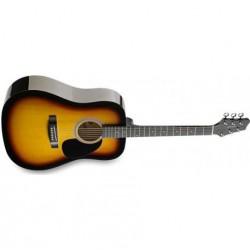 Chitara acustica pentru stangaci Stagg SW201LH-N