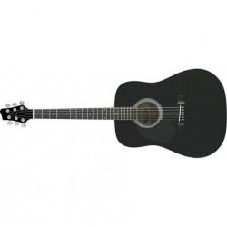 Chitara acustica pentru stangaci Stagg SW201LH-BK