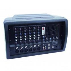 Mixer audio amplificat cu 6 canale, Omnitronic CS-406