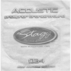 Coarda din bronz pentru chitara acustica Stagg BRW-025