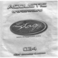 Coarda din bronz pentru chitara acustica Stagg BRW-034