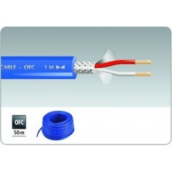 Cablu microfon 50 m albastru Monacor MLC-52/BL