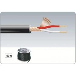 Rola cablu microfon 100m Monacor MC-102/SW