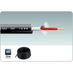 Cablu microfon 50m negru Monacor MLC-50/SW