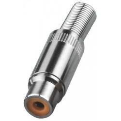 Conector RCA cablu Monacor T-702