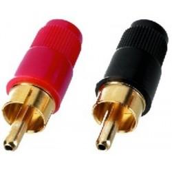 Conector RCA cablu Monacor T-701G