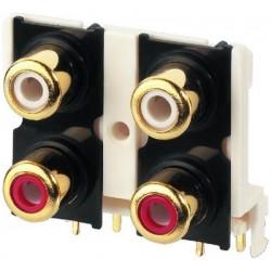 Conector cablu RCA Monacor T-740G