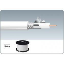 Rola 100 m cablu coaxial antena Monacor ACC-168/100