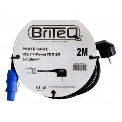 Power cable CEE7/7 - Briteq PowerCON 2M (1351)