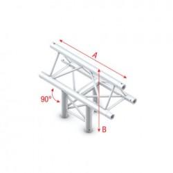 Grinda Showtec T-Cross vertical 3-way, apex up Deco-22 Triangle