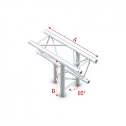 Grinda Showtec T-Cross up/down 3-way Pro-30 Triangle P Truss