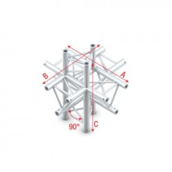 Grinda Showtec Cross up/down 6-way Pro-30 Triangle F Truss
