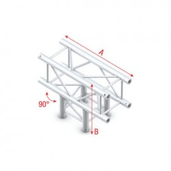 Grinda Showtec T-Cross 3-way Pro-30 Square F Truss