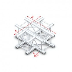 Grinda Showtec Cross 4-way Pro-30 Square G Truss