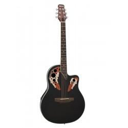 Chitara acustica roundback, cu pick-up piezo, neagra, Dimavery OV-500BK