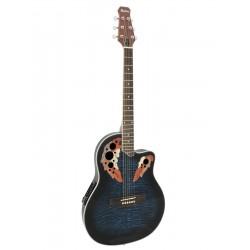 Chitara acustica roundback, cu pick-up piezo, albastra, Dimavery OV-500BL