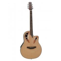 Chitara acustica roundback, cu pick-up piezo, natur, Dimavery OV-500N