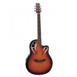 Chitara acustica roundback, cu pick-up piezo, sunburst, Dimavery OV-500SB