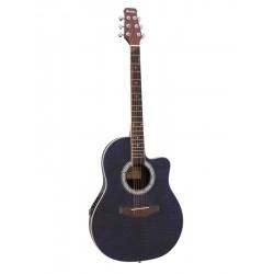 Chitara acustica roundback decupata, cu pick-up piezo, albastra, Dimavery RB-300BL