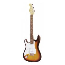 Chitara electrica de mana stanga, ST Style, sunburst, Dimavery ST-203 E-Guitar LH, sunburst