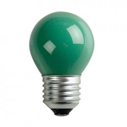 Bec General Electric G45 Standard Bulb E27 240V 15W, Green