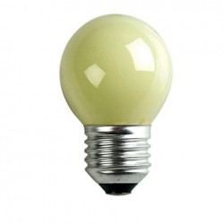 Bec General Electric G45 Standard Bulb E27 240V 15W, Yellow