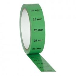 Banda Showtec Markertape Verde 25mm x 33m