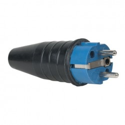 Stecher de cauciuc Schuko 230V/240V CEE 7/VII conector tata Showtec Albastru