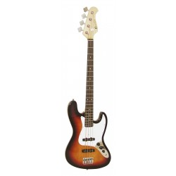 Chitara bas electrica tip Jazz, sunburst, Dimavery JB-302SB