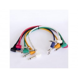 Set 6 cabluri de semnal, Jack 6,3mm mono - Jack 6,3mm mono, 0,3m, Jb Systems 1242