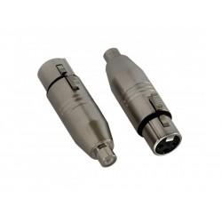 Set 2 adaptoare RCA mama - XLR mama, Jb Systems 1320