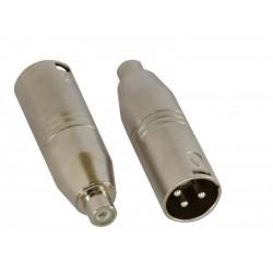 Set 2 adaptoare RCA mama - XLR tata, Jb Systems 1321