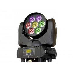 Moving wash LED, 7x 12W RGBW, 4pixel sectors, Briteq BT-W07L12
