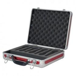 Case pentru 7 microfoane DAP Audio rosu