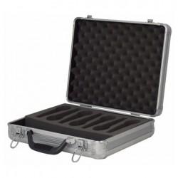 Case pentru 7 microfoane DAP Audio argintiu