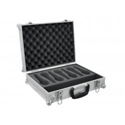 Flightcase argintiu pentru 7 microfoane, Roadinger 30109905