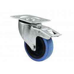 Roti albastru deschis 100mm, cu sistem de franare, Swivel 30004007