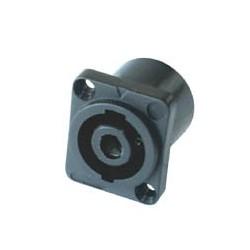 Conector speakon de panou, patrat, cu 4 poli, Sal SPK 850