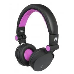 Casti stereo cu apelare hands-free si selectie track, roz, Omnitronic SHP-i3 PK