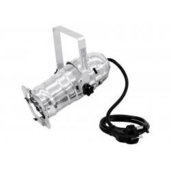 Proiector PAR-16 cu LED (3 x 3 W, 3200k), cromat, Eurolite LED PAR-16 3200K 3x3W Spot sil (51913547)