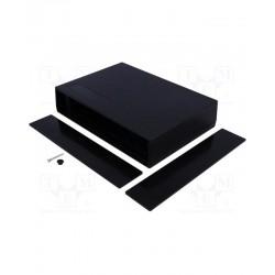 Carcasa cu panou 190 x 136 x 42mm ABS neagra TME ABS-106BK