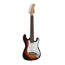 Chitara electrica ST-Style pentru copii, 1/2, sunburst, Dimavery J-350SB