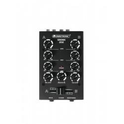 Mini-mixer DJ cu 2 canale, negru, Omnitronic GNOME-202 BK