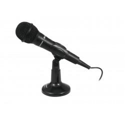 Microfon dinamic cu USB, stativ si fir, Omnitronic M-22 USB