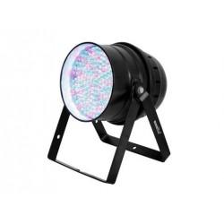 Proiector de podea cu LED RGBA 10mm si DMX, negru, Eurolite LED PAR-64 RGBA 10mm Floor bk (51916470)